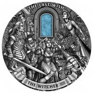 The Witcher The Last Wish 1 Kilo Antique finish Silver Coin 50$ Niue 2019