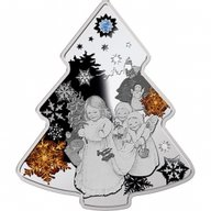 Niue 2013 2$ Christmas Tree 2013 Proof Silver Coin