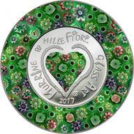 Cook Islands 2017 5$ Murrine Millefiori - Glass Art 2017 Proof Silver Coin