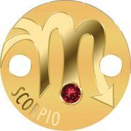 Scorpio Zodiac Signs Pendant 1g Proof Gold Coin 5$ Niue 2017
