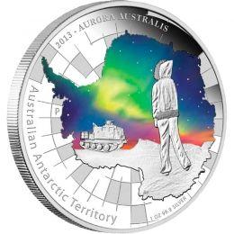 Australia 2013 1$ Aurora Australis. Australian Antarctic Territory Proof Silver Coin