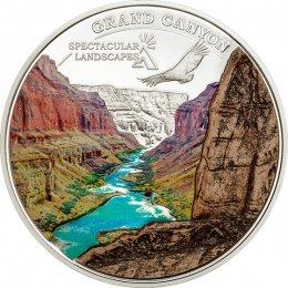 Cook Islands 2014 5$ Grand Canyon Spectacular Landscapes Proof Silver Coin