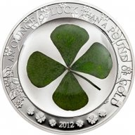 Ounce of Luck 2012 Proof Silver Coin 5$ Palau 2012