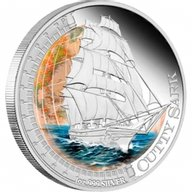 Cutty Sark Ships That Changed The World Proof Silver Coin 1$ Tuvalu 2012