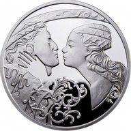 Romeo & Juliet Famouse Love Stories Proof Silver Coin 1$ Niue 2010