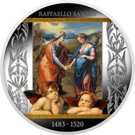 Visitation Raphael Proof Silver Coin 500 Francs Cameroon 2020