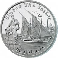 Tuvalu 2015 1$ The Chimera Famous Ships That Never Sailed Proof Silver Coin