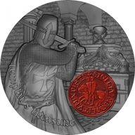 Templar's Treasure 2 oz Antique finish Silver Coin 2000 Francs Cameroon 2020