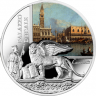 Niue 2016 100$  SOS. Venice – End or beginning ?  - Doge's Palace  Proof Silver Coin