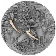 Sekhmet Gods of Anger 2 oz Antique finish Silver Coin 5$ Niue 2021
