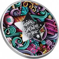 HAPPY BIRTHDAY Silver Coin 500 Francs Cameroon 2021