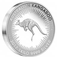 The Very First Kangaroo 1 Kilo Proof Silver Coin 30$ Australia 2017