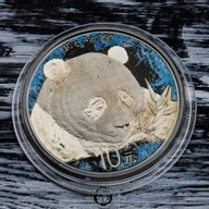 Panda Deep Frozen Edition 1oz Ruthenium BU Silver Coin 10 Yuan China 2018