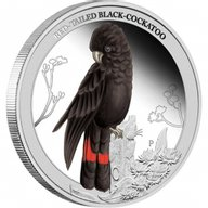 Australia 2013 50 cents Red-Tailed Black-Cockatoo Birds of Australia Series 1/2oz Proof Silver Coin