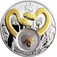 Golden Snakes Proof Silver Coin 1$ Niue 2012