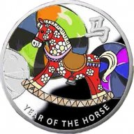 Rocking Horse   Year of the Horse  Proof Silver Coin 1$ Niue 2014