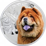 Chow-Chow Man's Best Friends Proof Silver Coin 1$ Niue 2014