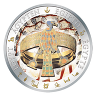 Fiji 2012 1$ Bracelet of Queen Ahhotep Golden and Colorful Egypt Proof Silver Coin