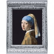 Girl with a Pearl Earring Masterpieces of the Museum Vermeer 500 g Proof Silver Coin 250 euro France 2021