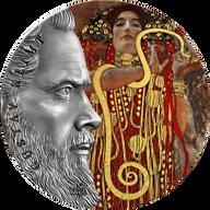 Gustav Klimt World's Greatest Artists 2 oz Antique finish Silver Coin 10 Cedis Republic of Ghana 2020
