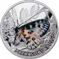 Niue 2010 1$ Apollo Butterflies Proof Silver Coin