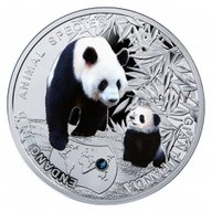Niue 2014 1$ Giant Panda - Endangered Animal Species 1/2 Oz Proof Silver Coin