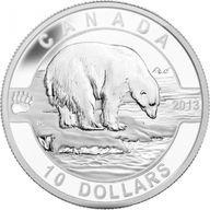 Canada 2013 10$ The Polar Bear 2013 O Canada 1/2 oz Proof Silver Coin