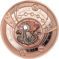 Aquarius Zodiac Signs Proof Silver Coin 500 Francs CFA Cameroon 2021
