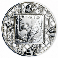 Filigree Panda 2 oz Proof Silver Coin 5$ Solomon Islands 2021