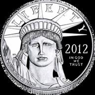United States 2012 100$ Eagle Platinum 1 oz Proof Platinum Coin