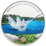 Cook Islands 2012 5$ Seymchan Meteorite Proof Silver Coin