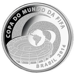 Brazil 2014 5 Reais - Stadium 2014 FIFA WORLD CUP Brazil Proof Silver Coin