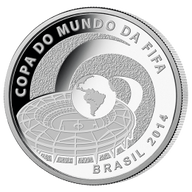 Brazil 2014 5 Reais - Stadium 2014 FIFA WORLD CUP Brazil Proof Silver Coin