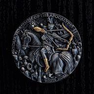 White Horse Four Horsemen of the Apocalypse 2 oz Antique finish Silver Coin 5$ Niue 2018