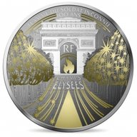 Champs Elysees Treasures of Paris 5 oz Proof Silver Coin 50 euro France 2020