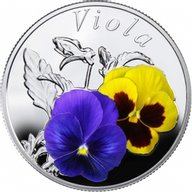 Belarus 2013 10 rubles Viola Proof Silver Coin