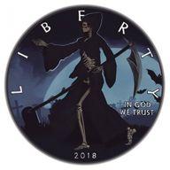 Liberty Reaper American Silver Eagle 1oz Black Ruthenium BU Silver Coin 1$ United States 2018
