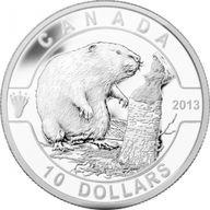 Canada 2013 10$ The Beaver 2013 O Canada 1/2 oz Proof Silver Coin