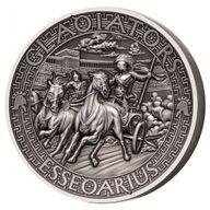 Essedarius The Gladiators 2 oz Antigue finish Silver Coin 5$ Solomon Islands 2017