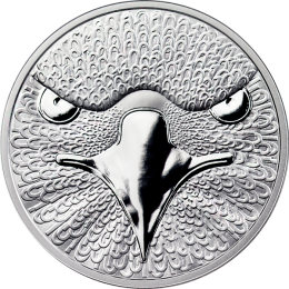 Binary Eagle Sol Noctis 1 oz Proof Silver Coin 0,01 BTC 2014