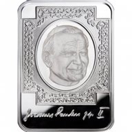 John Paul II Proof Silver Coin 10 diners  Andorra 2010