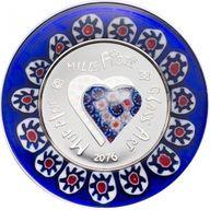 Cook Islands 2016 5$ Murrine Millefiori - Glass Art 2016 Proof Silver Coin