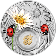Niue 2014 1$ Ladybird Symbols of Luck 1/2 Oz Proof Silver Coin