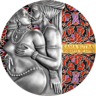 Kama Sutra Moments of Love 3 oz Antique finish Silver Coin 3000 Francs CFA Cameroon 2020