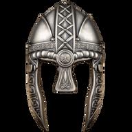 Vikings Helmet  10 oz Antique Finish Silver Coin 10$ Solomon Islands 2022