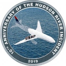 Miracle on the Hudson Proof Silver Coin 1$ Cook Islands 2019