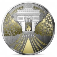 Champs Elysees Treasures of Paris Proof Silver Coin 10 euro France 2020