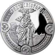 Andorra 2010 10 diners St. Christopher Holy Helpers Proof Silver Coin