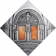 Romanesque Art The Art that Changed the World  Antique finish Silver Coin 1$ Niue 2014