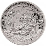 Solomon Islands 2017 5$ Wizard - Legends and Myths 2 oz Reverse Proof Silver Coin